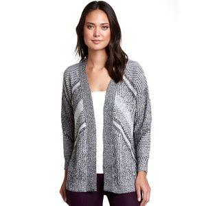 Fate Geometric Open Front Cardigan Sweater Medium